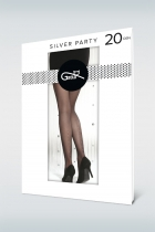 SILVER PARTY - Rajstopy z lurexem w.08